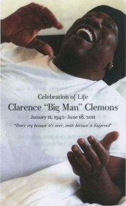Clarence Clemons memorial program